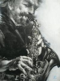 Картина №4 саксофонист